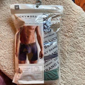 4 pack Lucky Brand boxer briefs, size medium